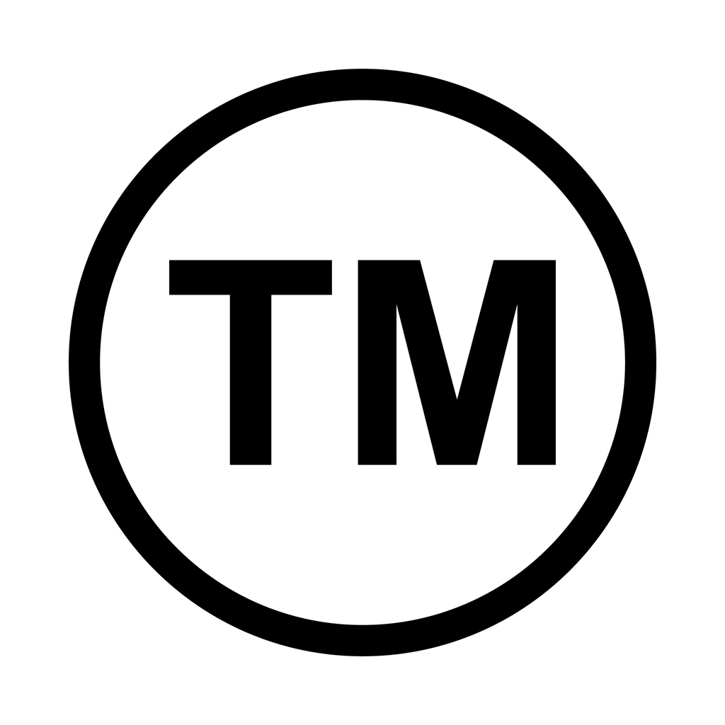 Trade Mark Icon Symbol. Tm Sign Trademark Vector Black Law