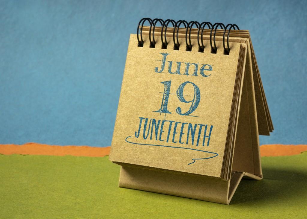 Juneteenth (june 19) In A Desktop Calendar
