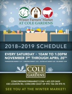 2018/2019 Winter Farmers' Market at Cole Gardens @ Cole Gardens