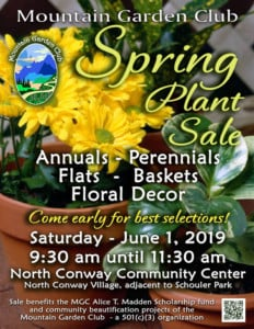 Spring Plant Sale @ North Conway Community Center |  |  |