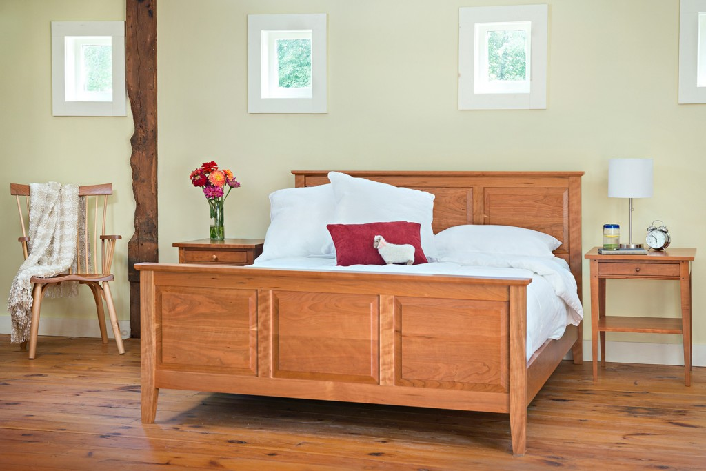 Shaker Style Handcrafted Raised Panel Bed