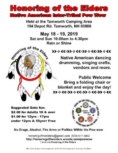 Honoring of the Elders Native American Pow Wow @ Tamworth Camping Area |  |  |