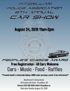Fitzwilliam Police Association 6th Annual Car Show @ Meadowood Training Center | Fitzwilliam | New Hampshire | United States