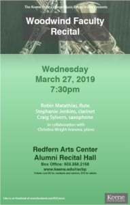 Woodwind Faculty Recital @ Keene State College | Keene | New Hampshire | United States