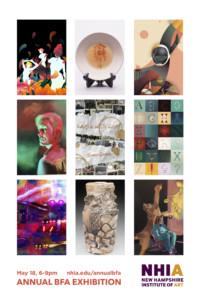 NHIA Annual BFA Exhibition @ New Hampshire Institute of Art | Manchester | New Hampshire | United States