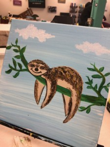Sloth Painting @ The Canvas Roadshow | Bedford | New Hampshire | United States