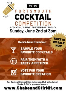 Portsmouth Cocktail Competition @ Various Venues in Portsmouth | Portsmouth | New Hampshire | United States