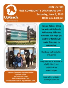Community Open Barn Day @ UpReach Therapeutic Equestrian Center | Goffstown | New Hampshire | United States