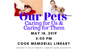 Our Pets: Caring for Us and Caring for Them @ Cook Memorial Library | Tamworth | New Hampshire | United States