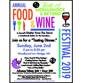 Taste of Monadnock and Beyond Food & Wine Festival @ Woodbound Inn | Rindge | New Hampshire | United States