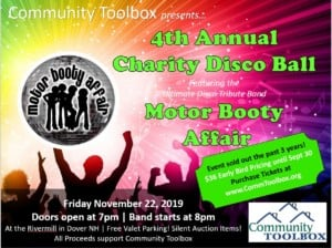 4th Annual Charity Disco Ball Featuring Motor Booty Affair @ Rivermill at Dover Landing | Dover | New Hampshire | United States