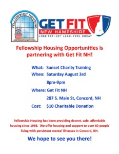 Sunset Charity Training @ Get Fit NH | Concord | New Hampshire | United States