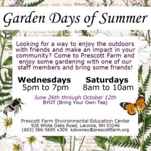 Garden Days of Summer @ Prescott Farm Environmental Education Center | Laconia | New Hampshire | United States