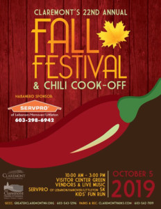 22nd Annual Fall Festival and Chili Cook-Off @ Visitor Center Green | Claremont | New Hampshire | United States