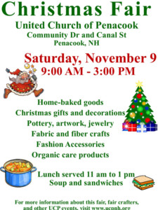 Christmas Craft Fair at United Church of Penacook @ United Church of Penacook