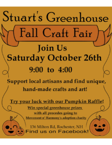 Fall Craft Fair @ Stuart's Greenhouses | Rochester | New Hampshire | United States