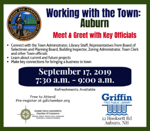 Meet and Greet with Key Officials in Auburn NH @ Griffin Free Public Library