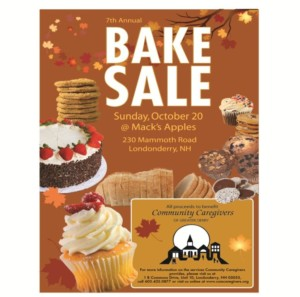 Mack's Apples Bake Sale to Benefit Community Caregivers of Greater Derry @ Mack's Apples   Londonderry   New Hampshire   United States
