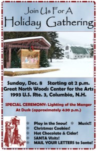 Holiday Gathering @ Great North Woods Center for the Arts   Colebrook   New Hampshire   United States