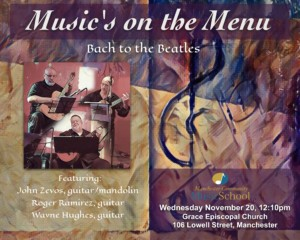 """Manchester Community Music School Presents  """"Bach to the Beatles"""" @ Grace Episcopal Church 