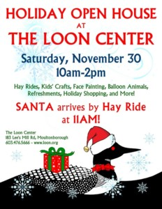 Holiday Open House @ The Loon Center | Moultonborough | New Hampshire | United States