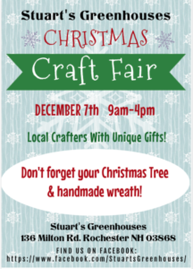 Christmas Craft Fair @ Stuart's Greenhouses | Rochester | New Hampshire | United States