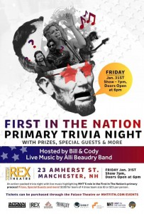 First-in-the-Nation Primary Trivia Night @ The Rex Theatre | Manchester | New Hampshire | United States