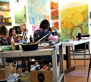 Painting in the Studio with Rose Bryant @ Art Up Front Street Studios and Gallery   Exeter   New Hampshire   United States