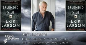 Historian Erik Larson @ Concord City Auditorium | Concord | New Hampshire | United States