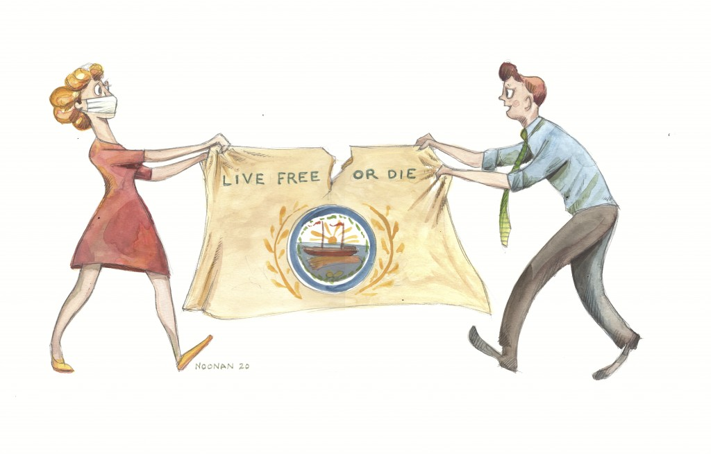 Live Free Or Die Illustration Nh Mag 2020 Copy