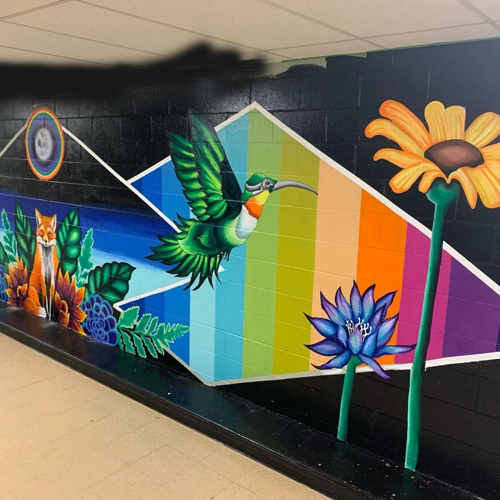 Rmfa Bianca Mireles Community Center Mural Progress Shot June 2020