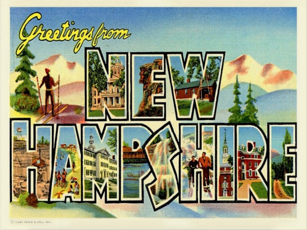 Greetings From Nh Postcard