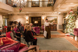 Experience Christmas as the Reynolds family did with era-inspired decorations and performances