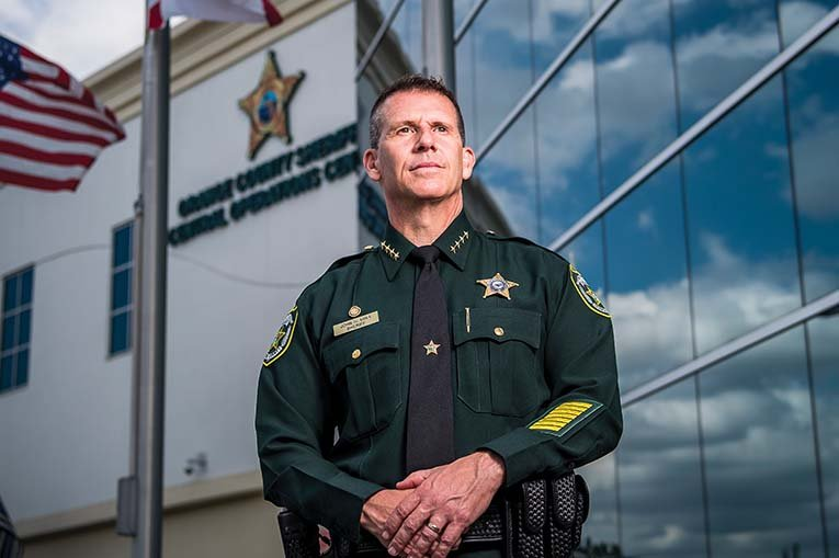 Sheriff John Mina, Photo By Roberto Gonzalez