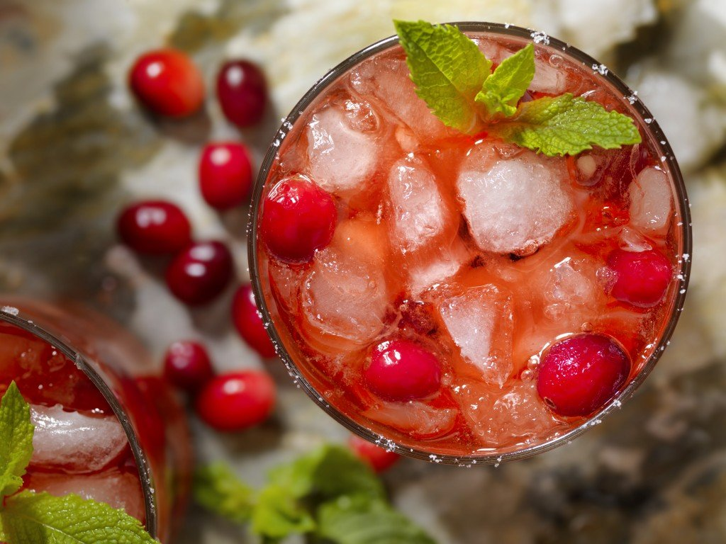 Cranberry And Mint Cocktail