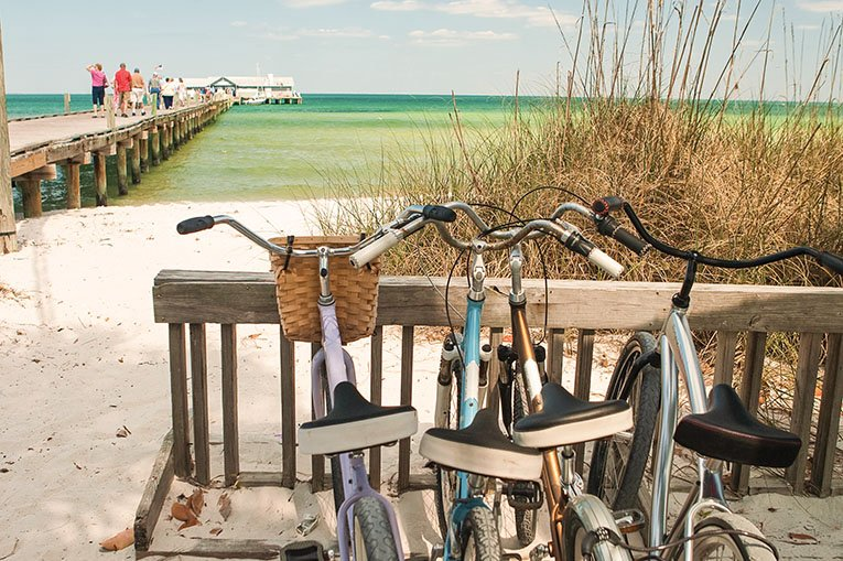 Bikes At Anna Maria City Pier