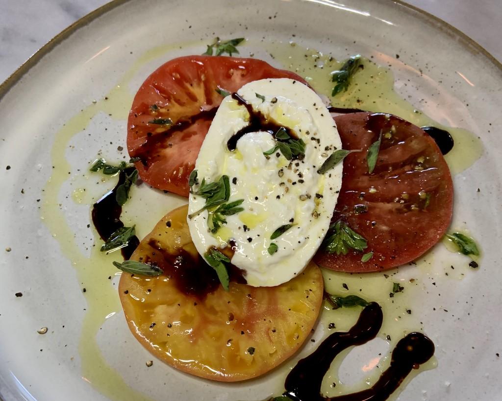 Tomato and Burrata Salad, Boheme Restaurant