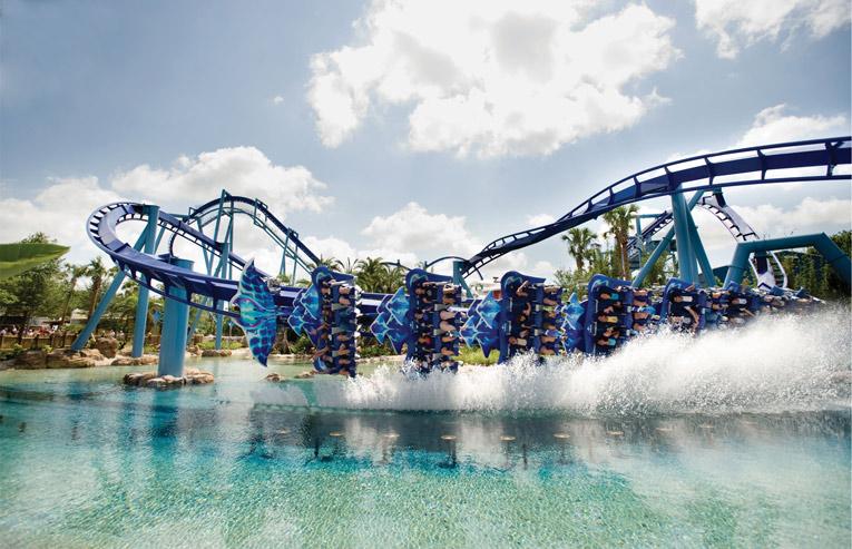 SeaWorld's Manta roller coaster