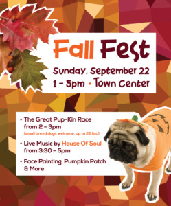 Fall Fest and The Great Pup-Kin Race at The Waterfront @ The Waterfront at Homestead |  |  |