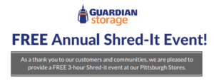 Guardian Storage FREE Shred-It Event @ Pittsburgh | Pennsylvania | United States
