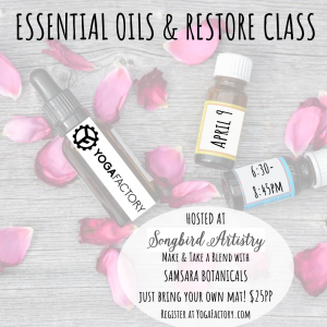 Essential Oils Restore Class @ Songbird Artistry | Pittsburgh | Pennsylvania | United States