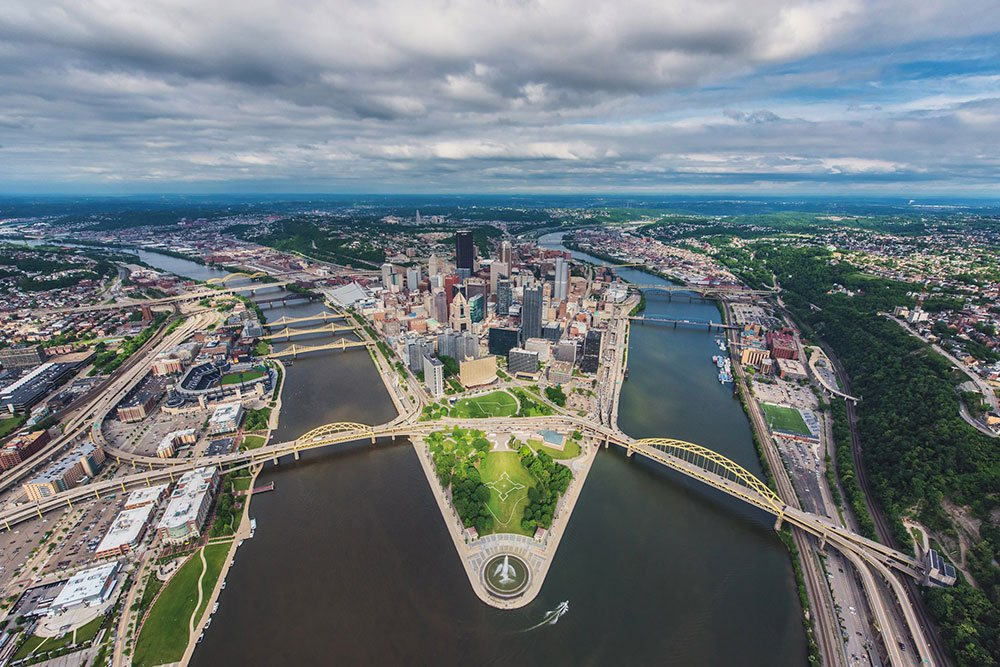 Pittsburgh Aerial On A Beautiful Spring Day