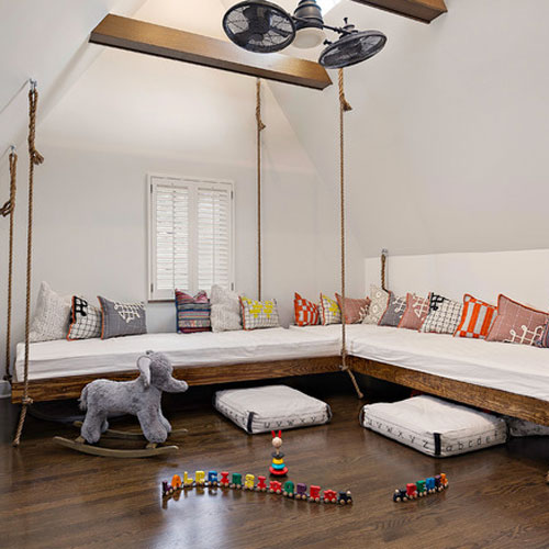 Hanging Beds Foster Family Fun in a Pittsburgh Bonus Room ...