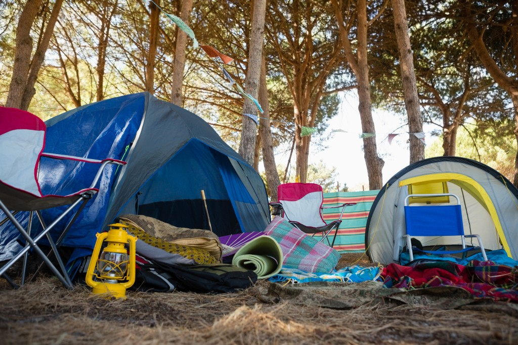 Camping Equipment's In The Park