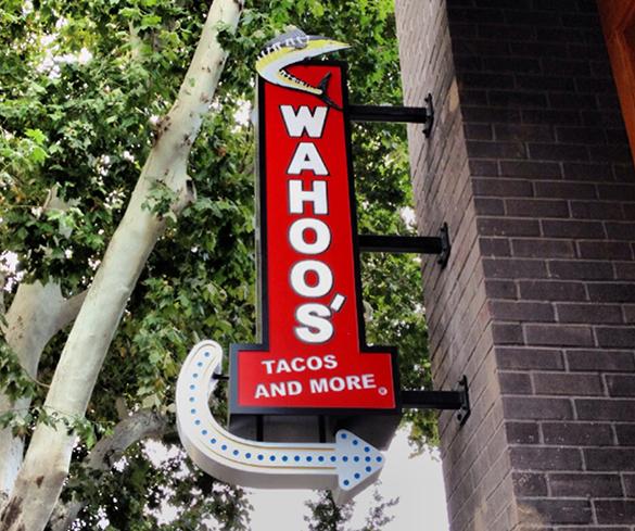 Wahoos Sign