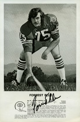 Forrest Blue in 1973, which was one of the four years he was named to the NFL Pro Bowl