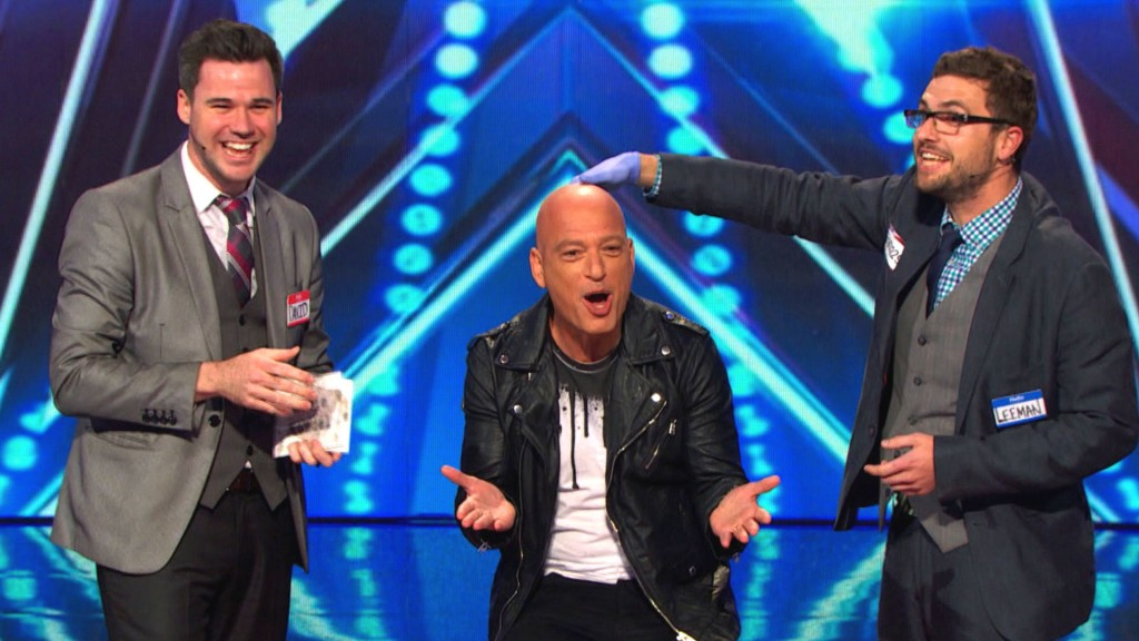 David And Leeman With Howie Mandel On Americas Got Talent.