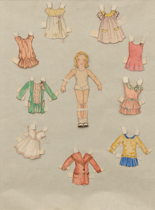 A set of paper dolls created by Ray as a teenager circa 1928 (Image courtesy of and © Eames Office, LLC)