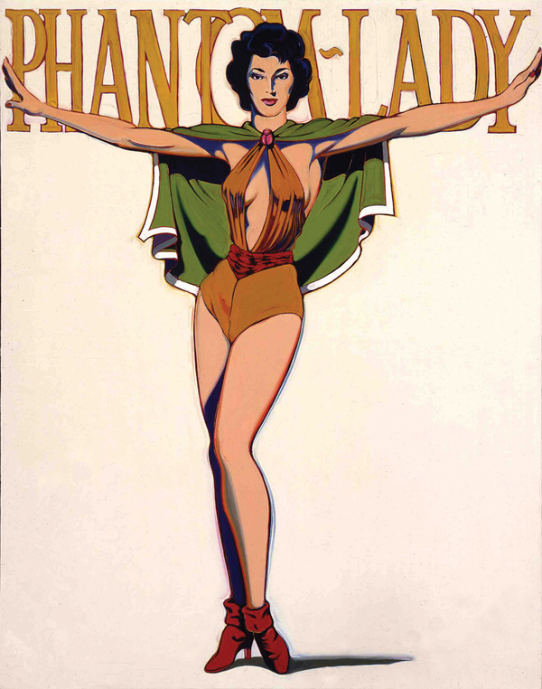 """Phantom Lady"" (1963) was a transitional piece between Ramos' superheroes and nudes. (Image courtesy of Crocker Art Museum)"