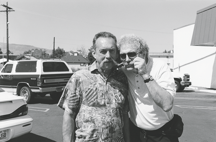 Mel with the artist Clayton Bailey in Reno in the late '80s (Photo courtesy of Mel Ramos)